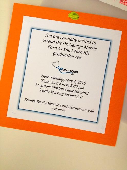 Graduation Tea invite