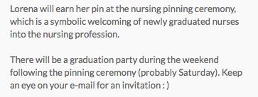 Pinning Ceremony invite